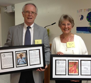 Joe Dirr and Sr. Joan S. Dawber, SC, Recipients of Pax Christi NY Peacemaker Awards